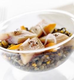 Salade de lentilles vertes Hareng fume - Bistrot Allard