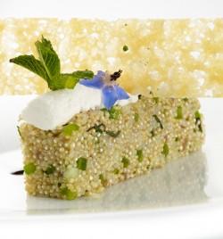 taboule de quinoa Aux legumes Croquants Mousse de Chevre frais - Hotel du Chateau de la tour