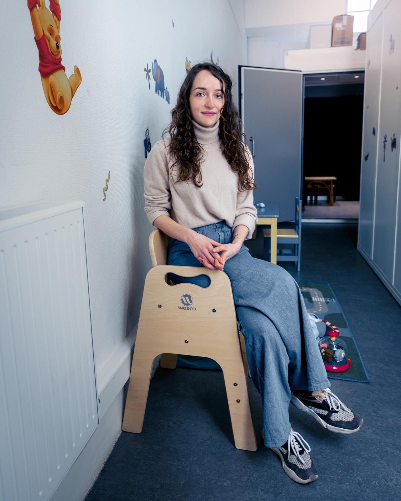 Cécile Crimon dans le BabyLab du Laboratoire de Sciences Cognitives et Psycholinguistique Doctorant