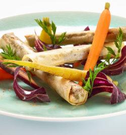 Cigare d'épaule d'agneau, confit symphonique de carottes - La Passerelle