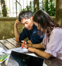 Étudiants étrangers à l'ILCF