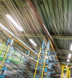 Usine Bridgestone de Béthune -  Fabrication de la nappe textile